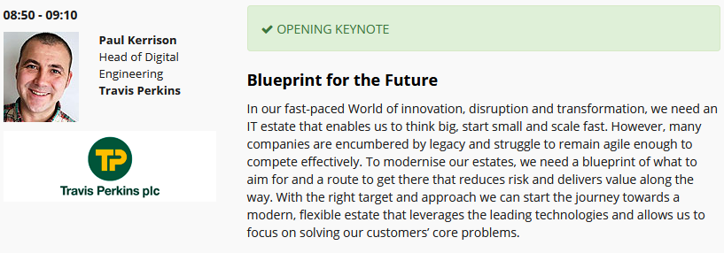 Paul Kerrison Keynote Speaker at Enterprise IT Strategy Forum